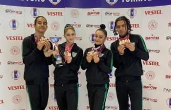 Türkiye Aerobik Cimnastik Şampiyonası'na Manisa BBSK damgası