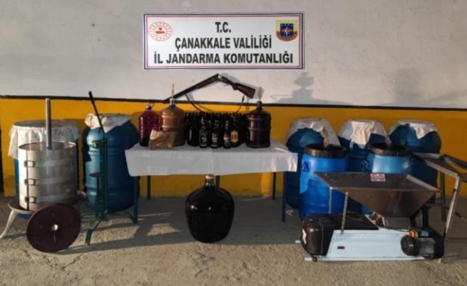 Bağ evinde bin 355 litre sahte içki ele geçirildi