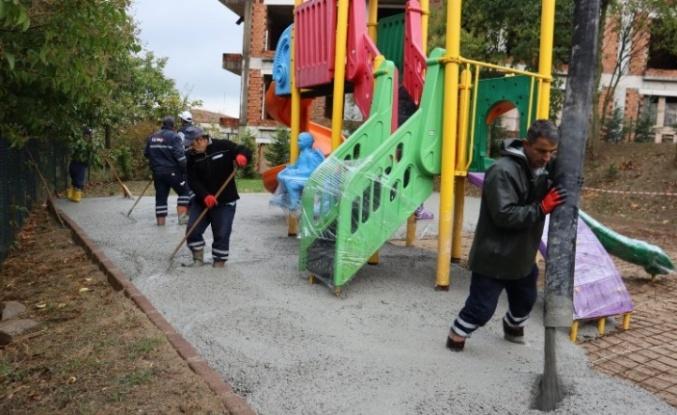 İzmit'te park çalışmaları devam ediyor