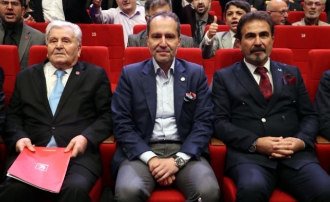 Yeniden Refah Partisi Genel Başkanı Erbakan, Kocaeli'de konuştu: