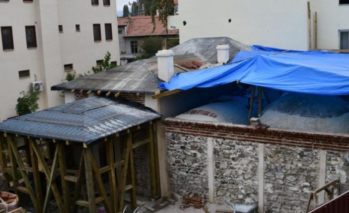 Sındırgı ilçesinde Osmanlı dönemine ait hamam restore ediliyor